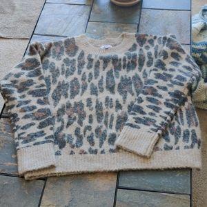 Rails Lana Spotted Hazel Alpaca Wool Print Sweater